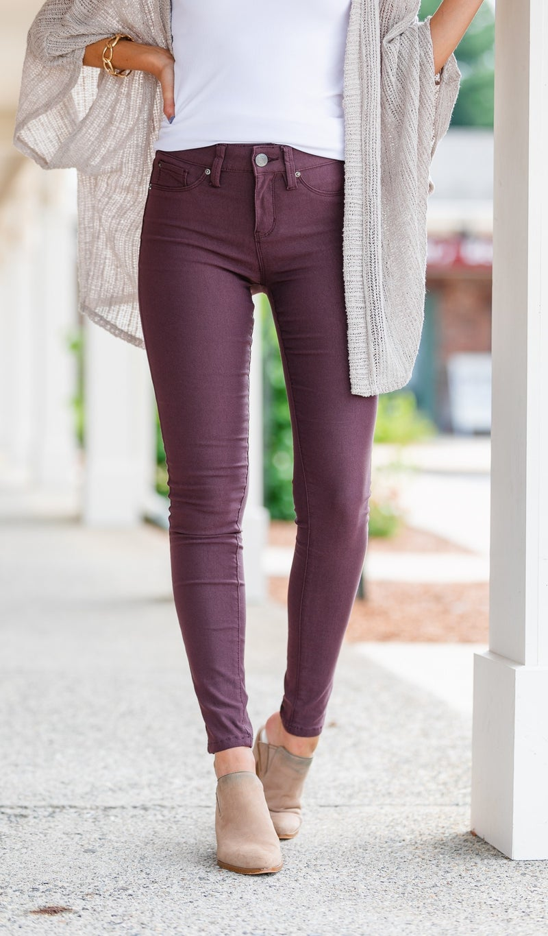 Next Best Thing Jeggings- Black, Olive, Plum, or Grey