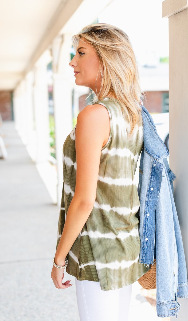 Sunny Side Tunic, Teal or Olive