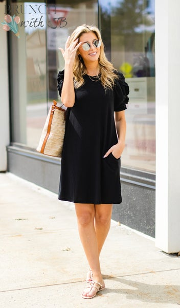 Summer Sun Dress, Black