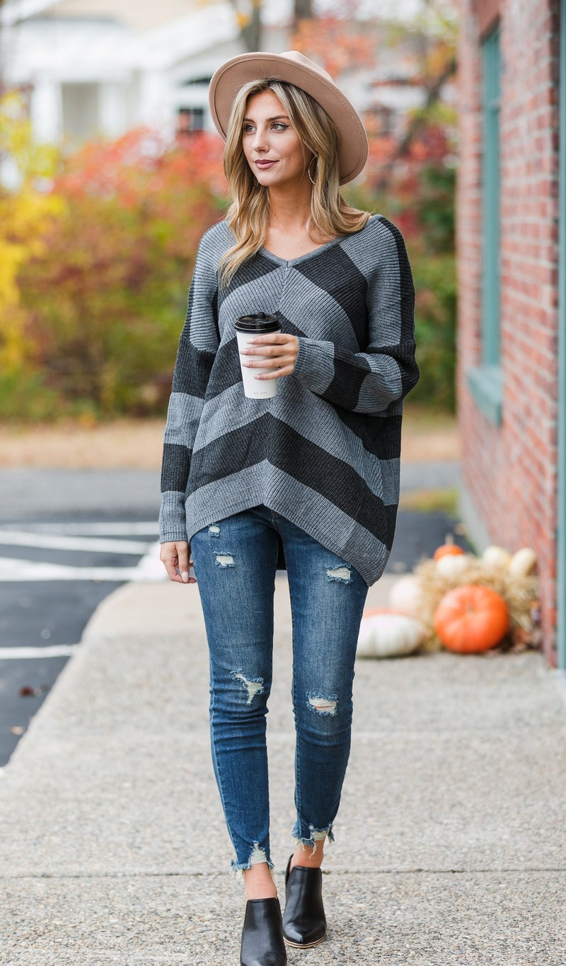 The Shelby Sweater, Charcoal