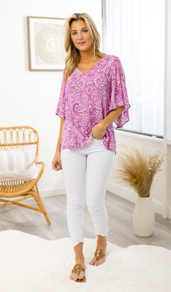 The Chelsea Blouse, Magenta