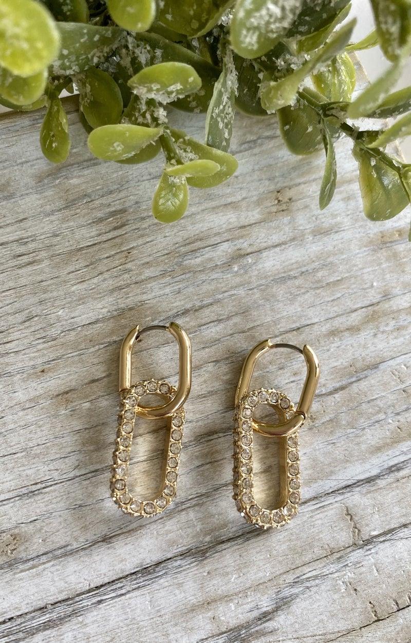 Link Earrings, Gold