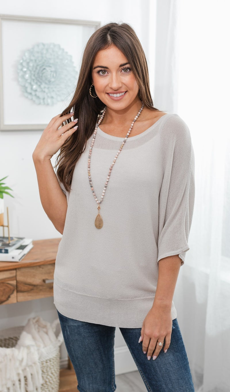 Choices Made Easy Top, grey