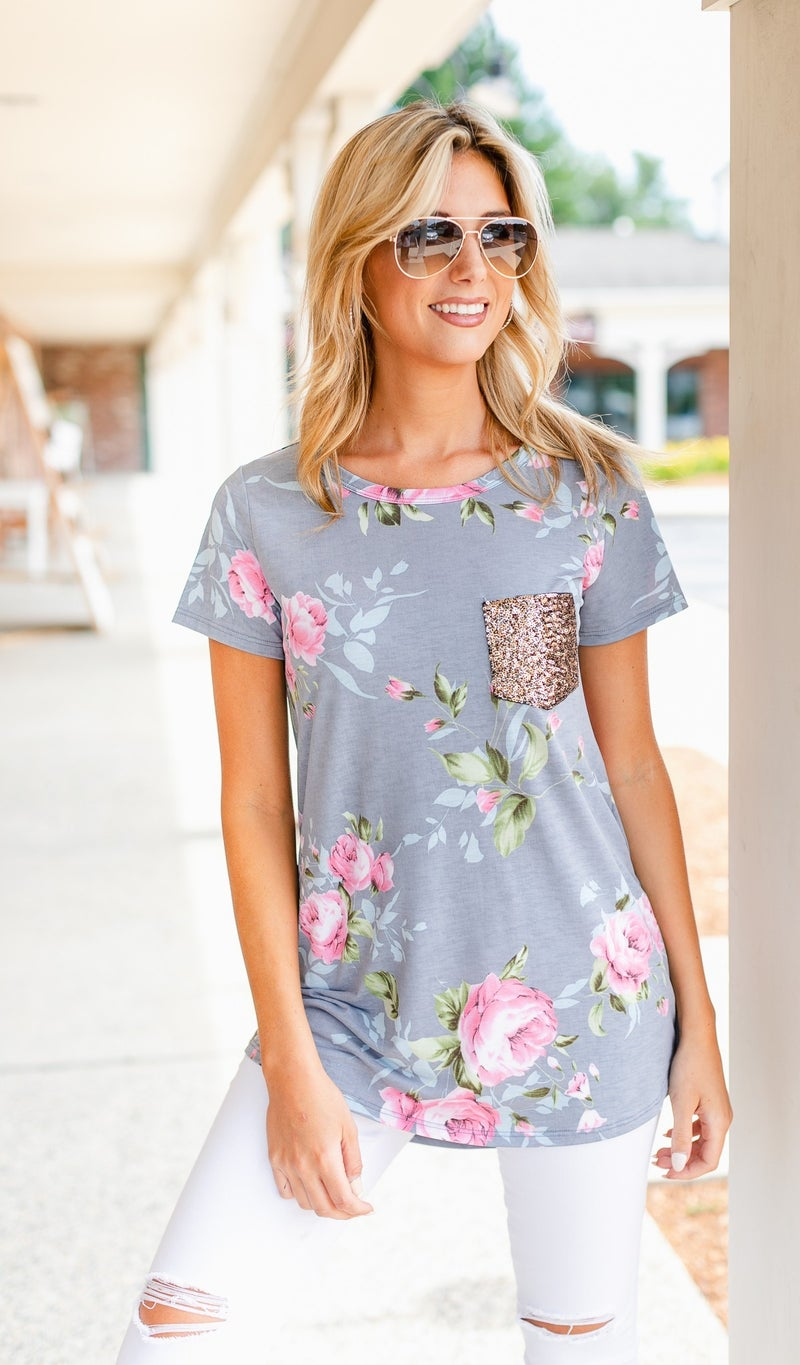 Dance With Me Tee, Floral Print