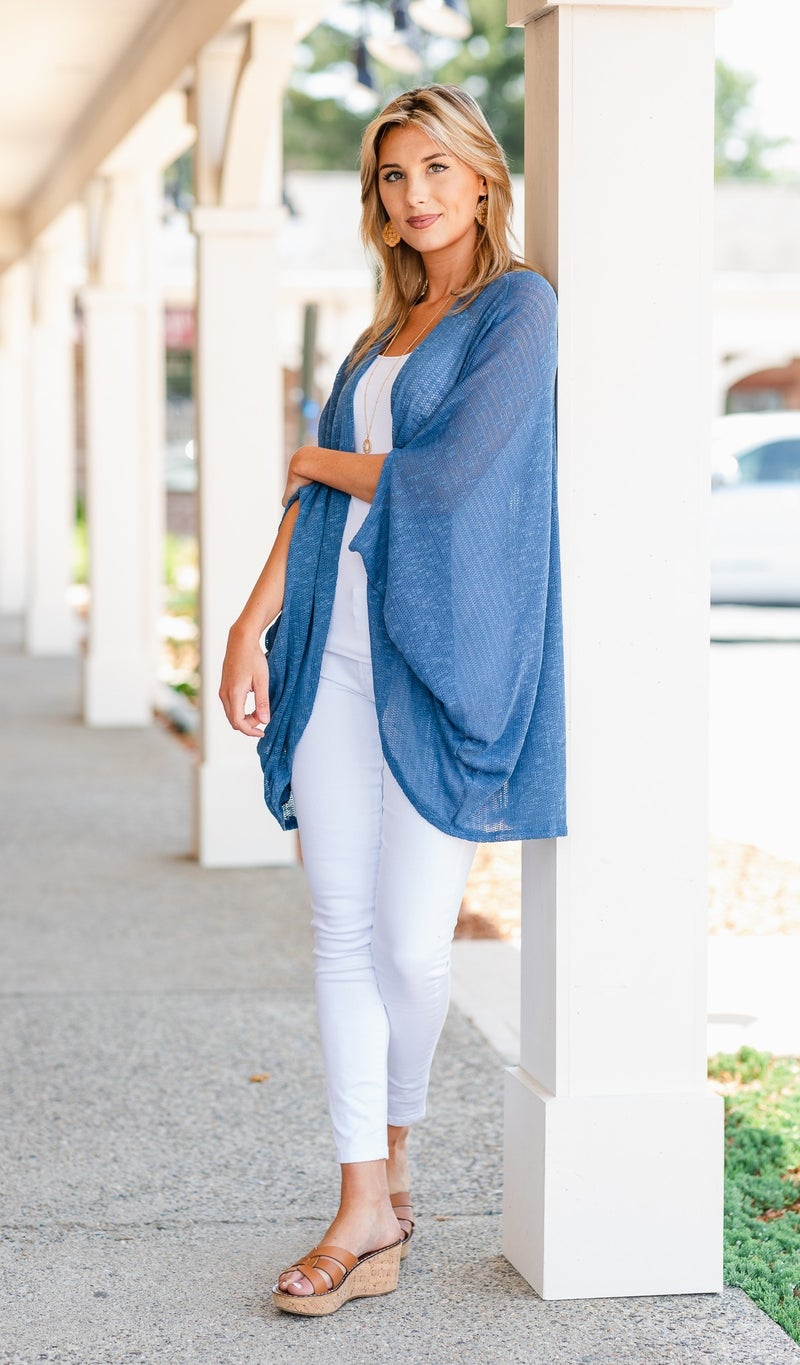 Got You Covered Shawl, Blue