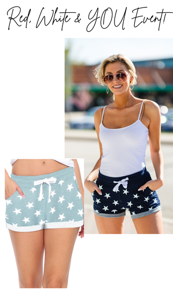 Stardust Shorts, Mint or Navy