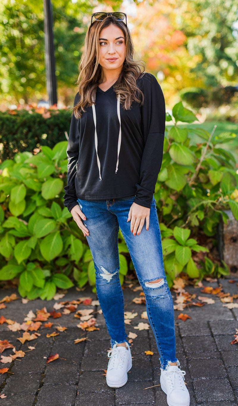 Walking On A Dream Pullover, Black