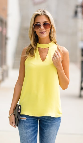 Spring Brights Tank, Yellow