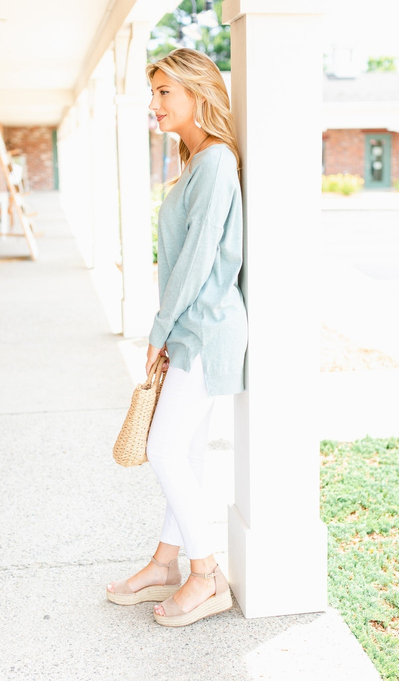 Beat The Chill Sweater, Mint or White