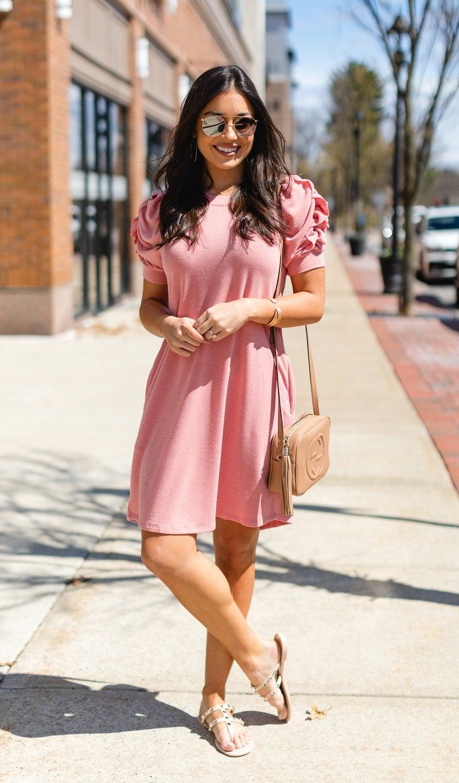 Summer Sun Dress, Coral