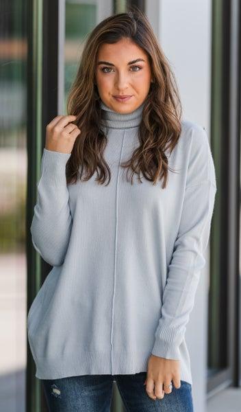 Cozy Days Sweater, Burgundy or Grey