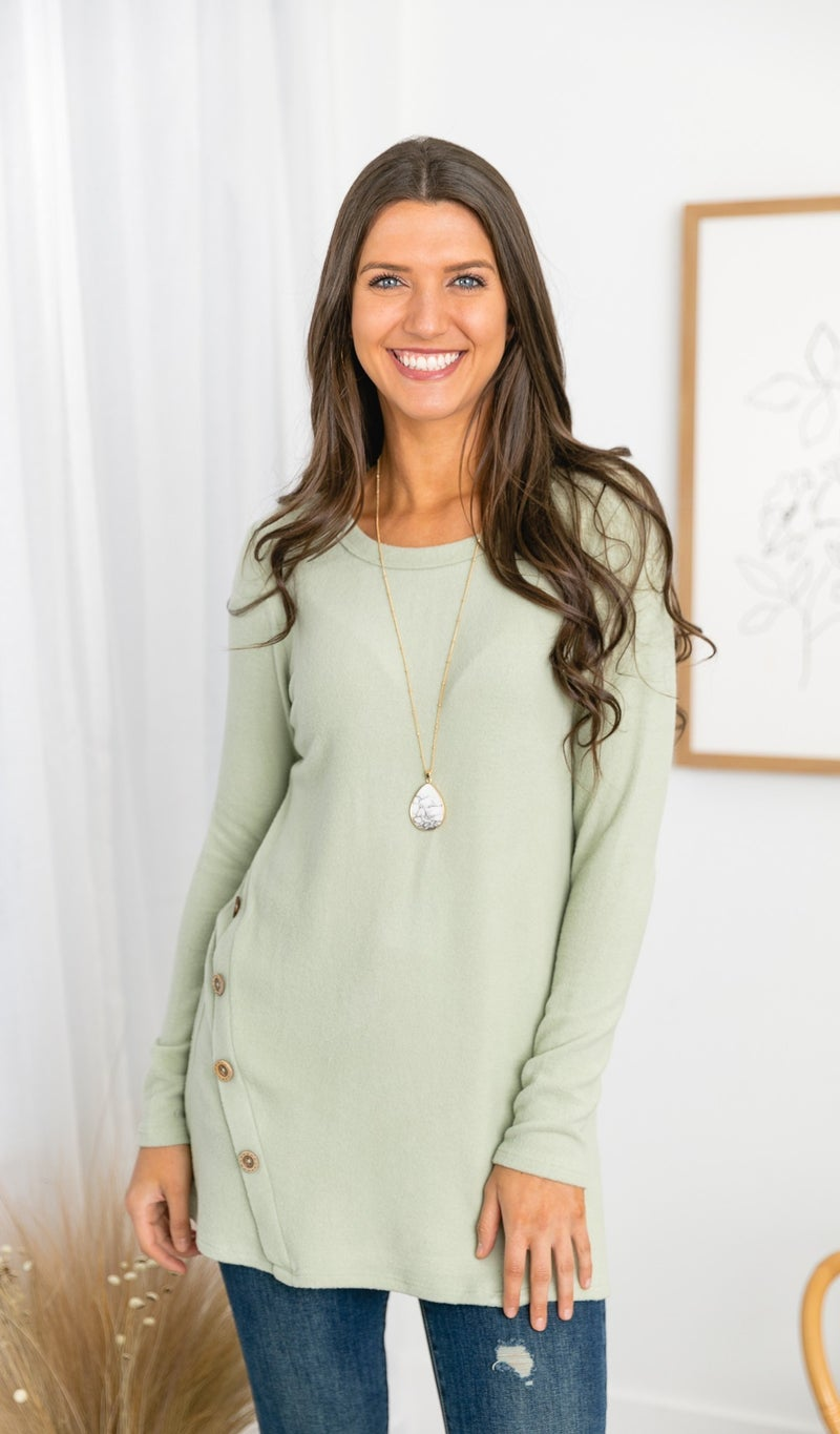 Bare It All Tunic, Rose or Sage