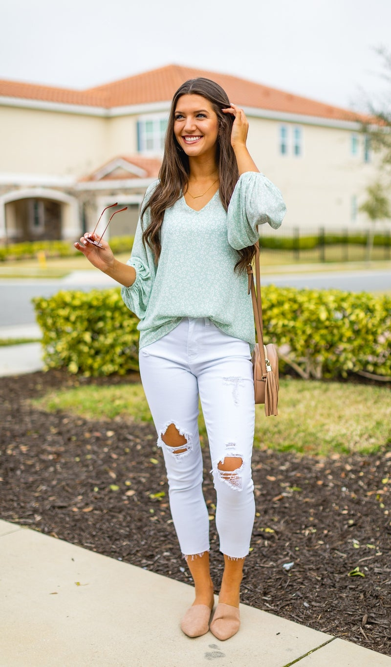 The Rylee Blouse, Mint