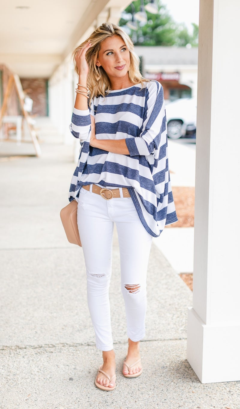 Steal Me Away Tunic, Navy