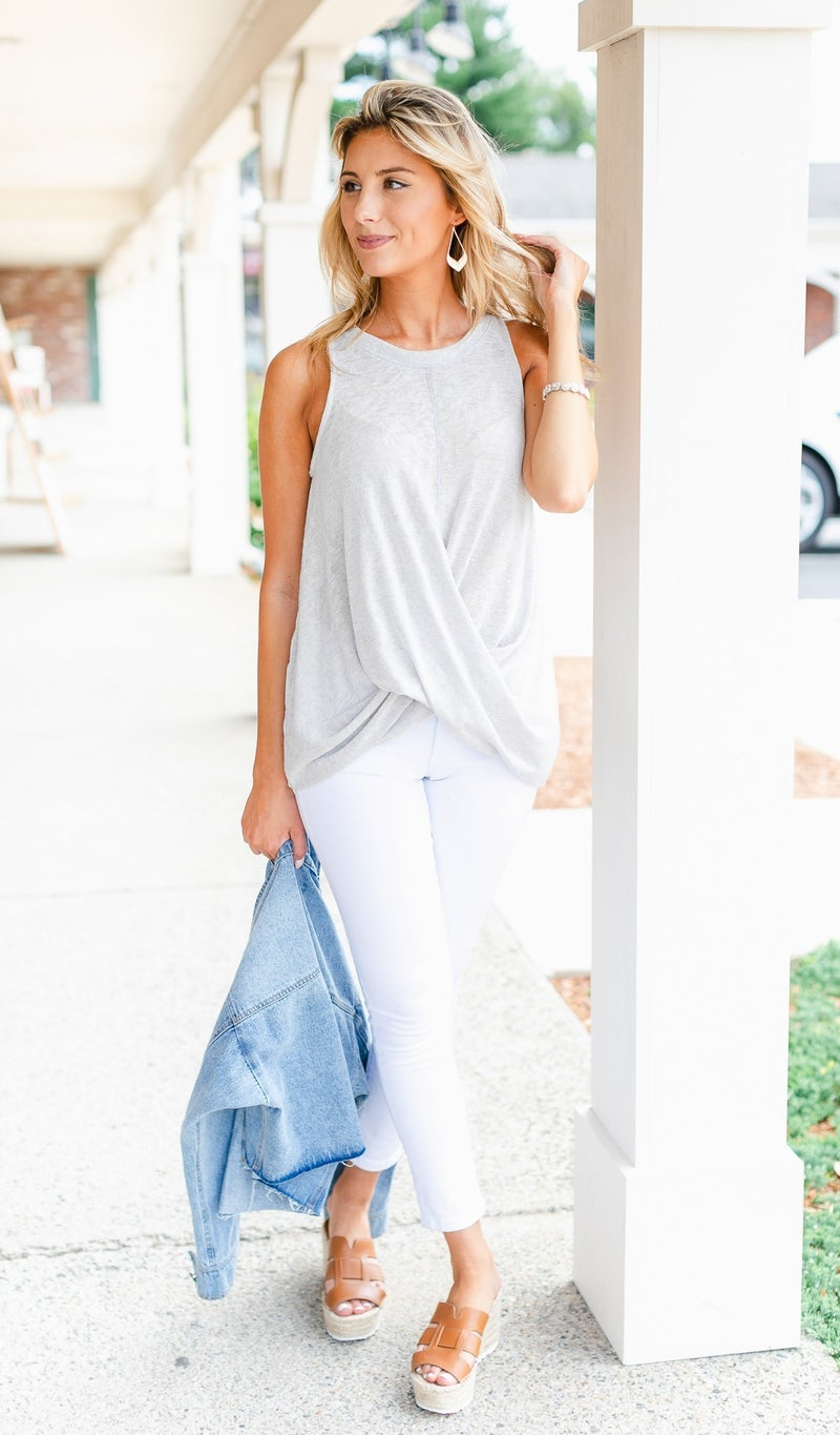 Summer Staple Tank, Silver or Teal