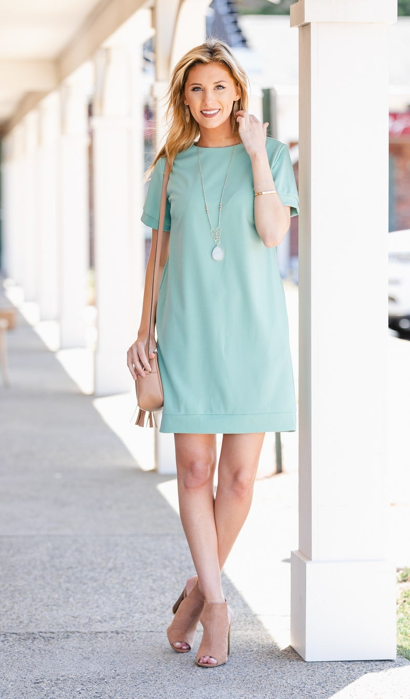 Carefree Kinda Day Dress, Sage