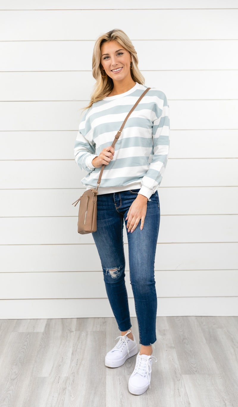 The Silvia Top, Blue
