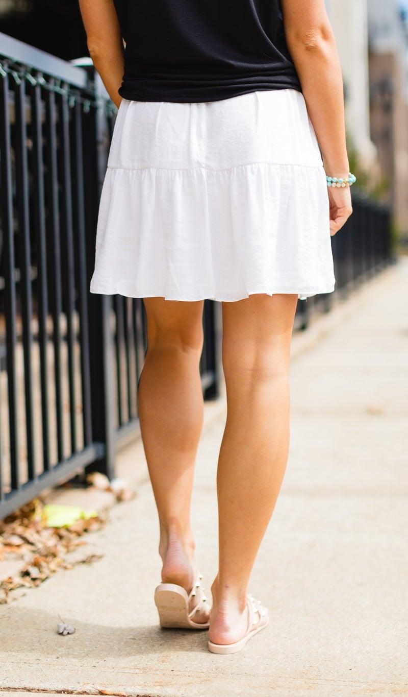 The Byron Bay Skirt, Ivory