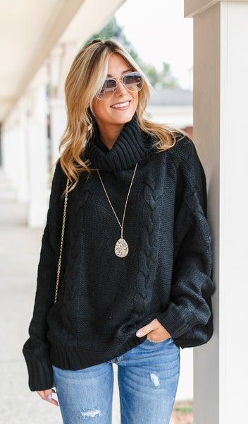 Feeling Comfy Sweater, Black