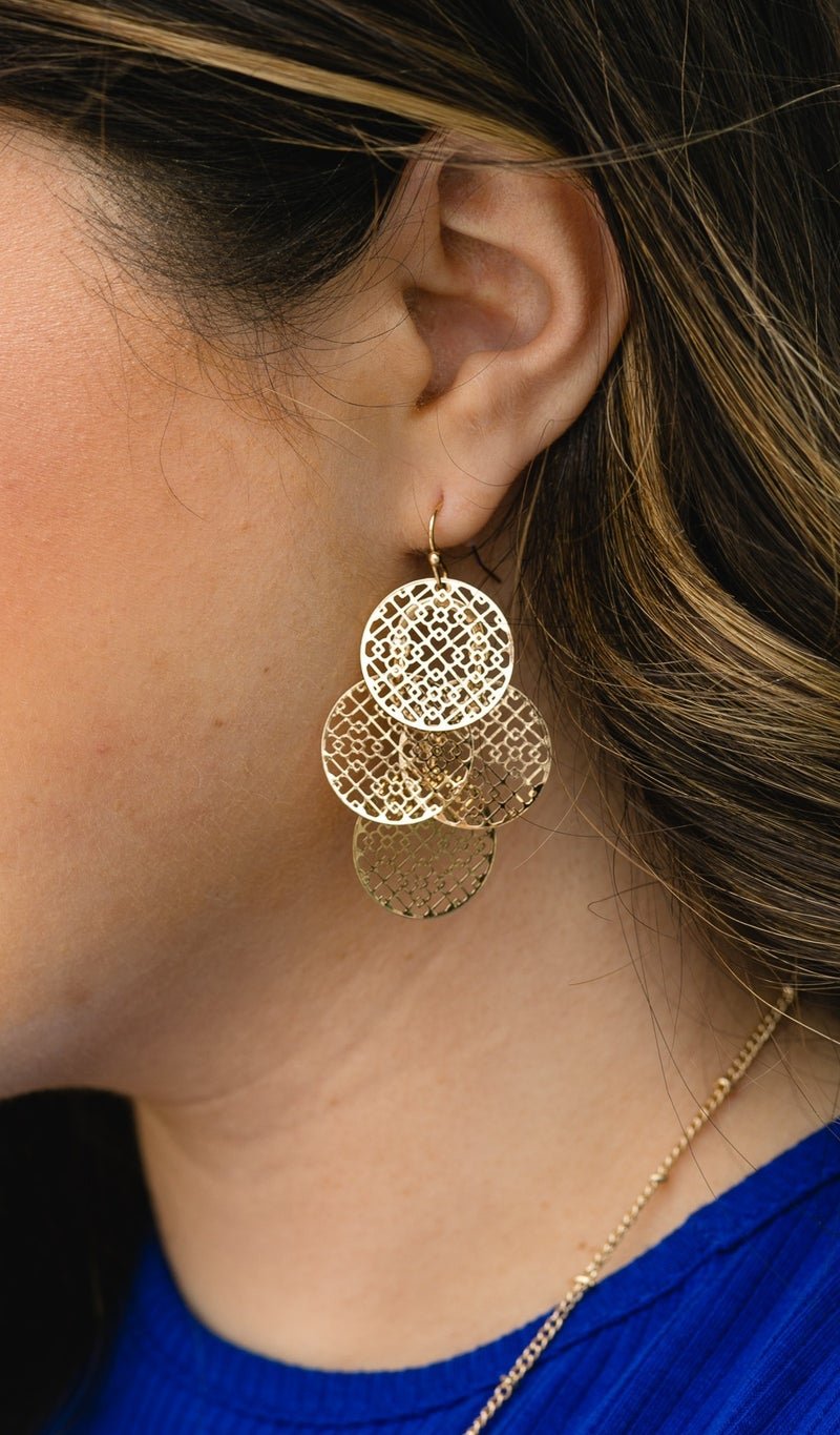 Must Have It Dangle Earring, Gold or Silver