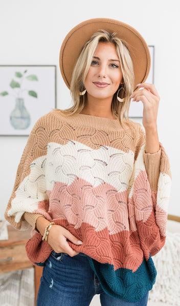 Caught In The Chill Sweater, Multi Color