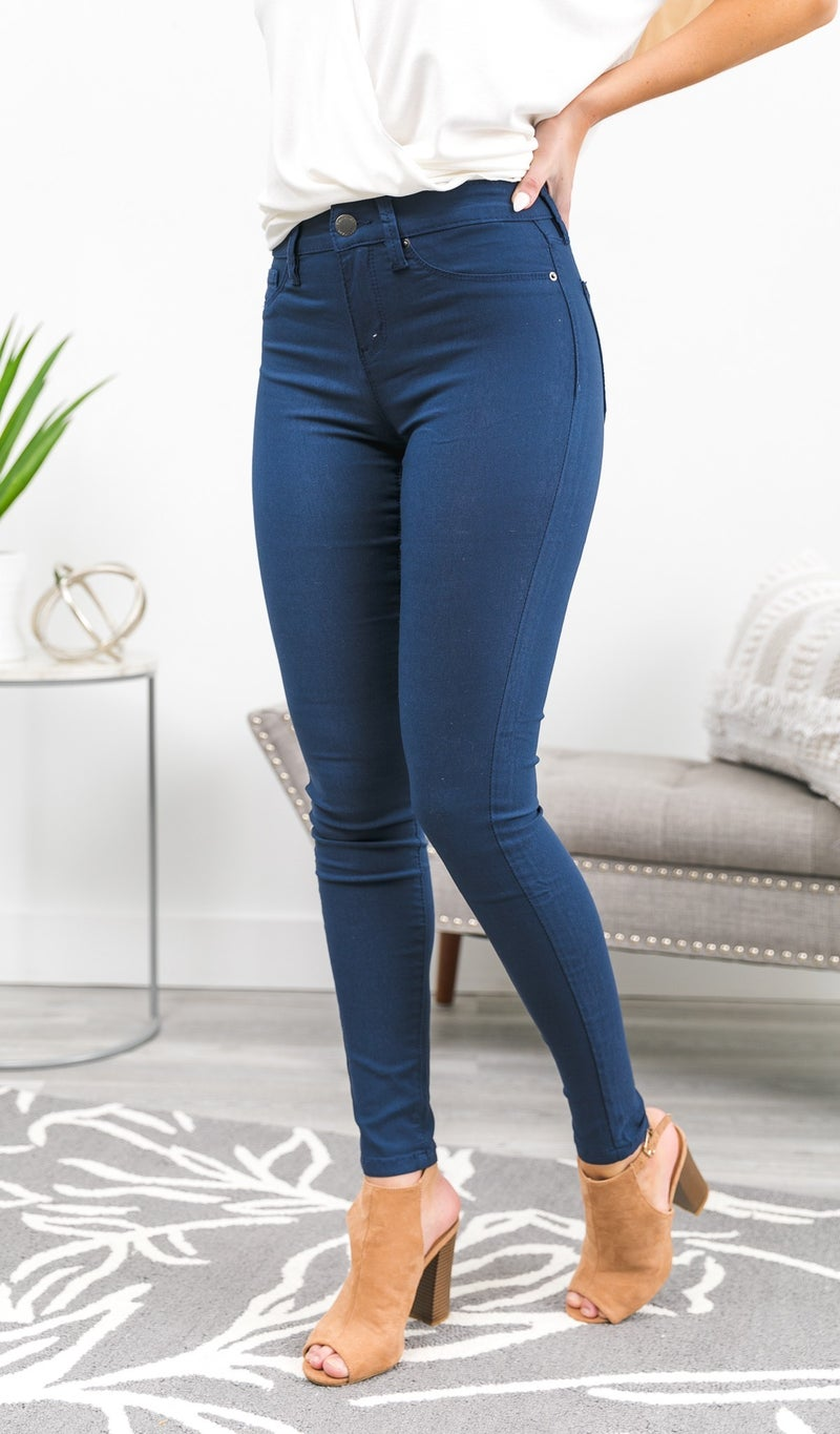 Next Best Thing Jeggings, Navy