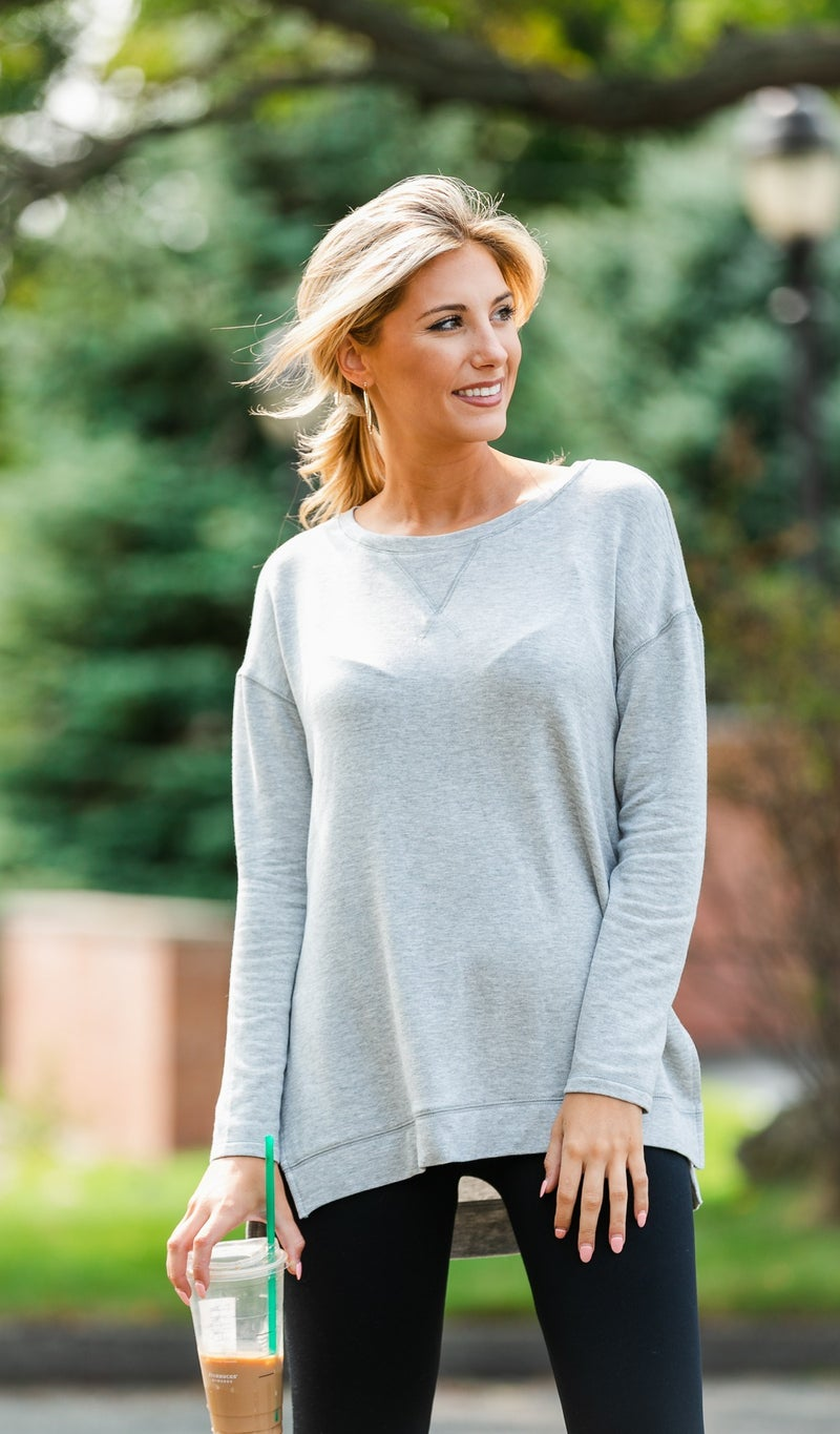 All Or Nothing Tunic, Taupe or Grey