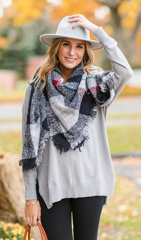 Brookside Sweater, Burgundy or Grey