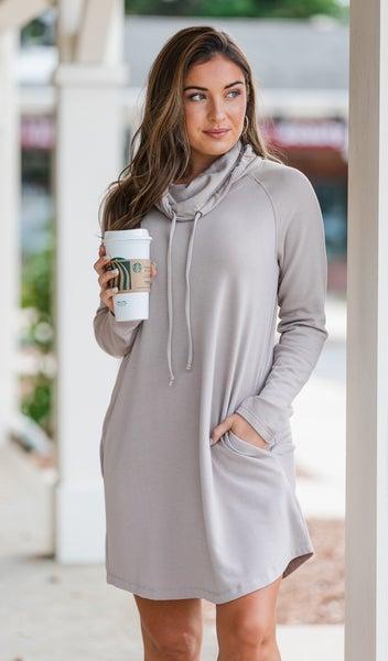 The Sasha Sweater Dress, Taupe
