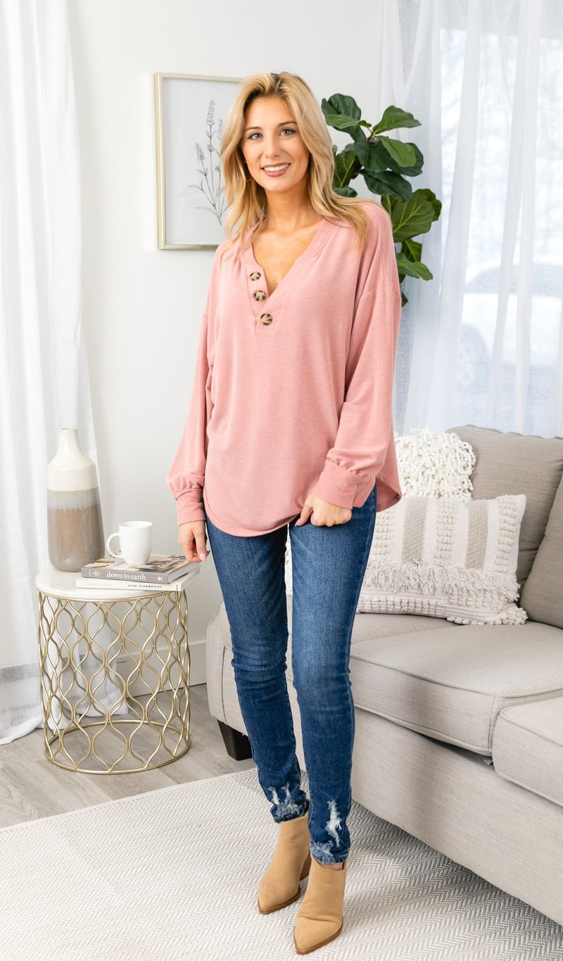 The Alora Top, Pink