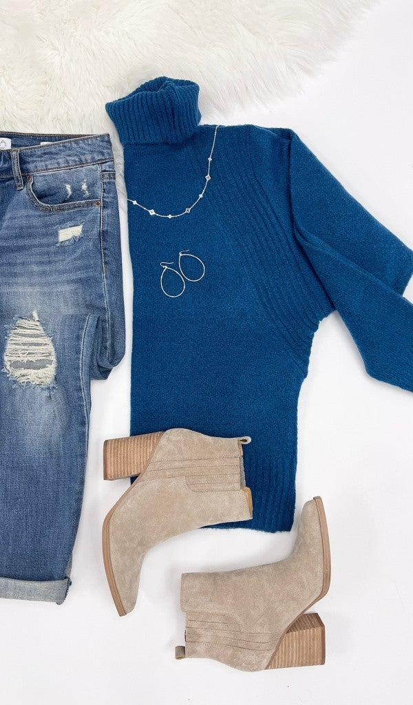 Tell All Sweater, Teal