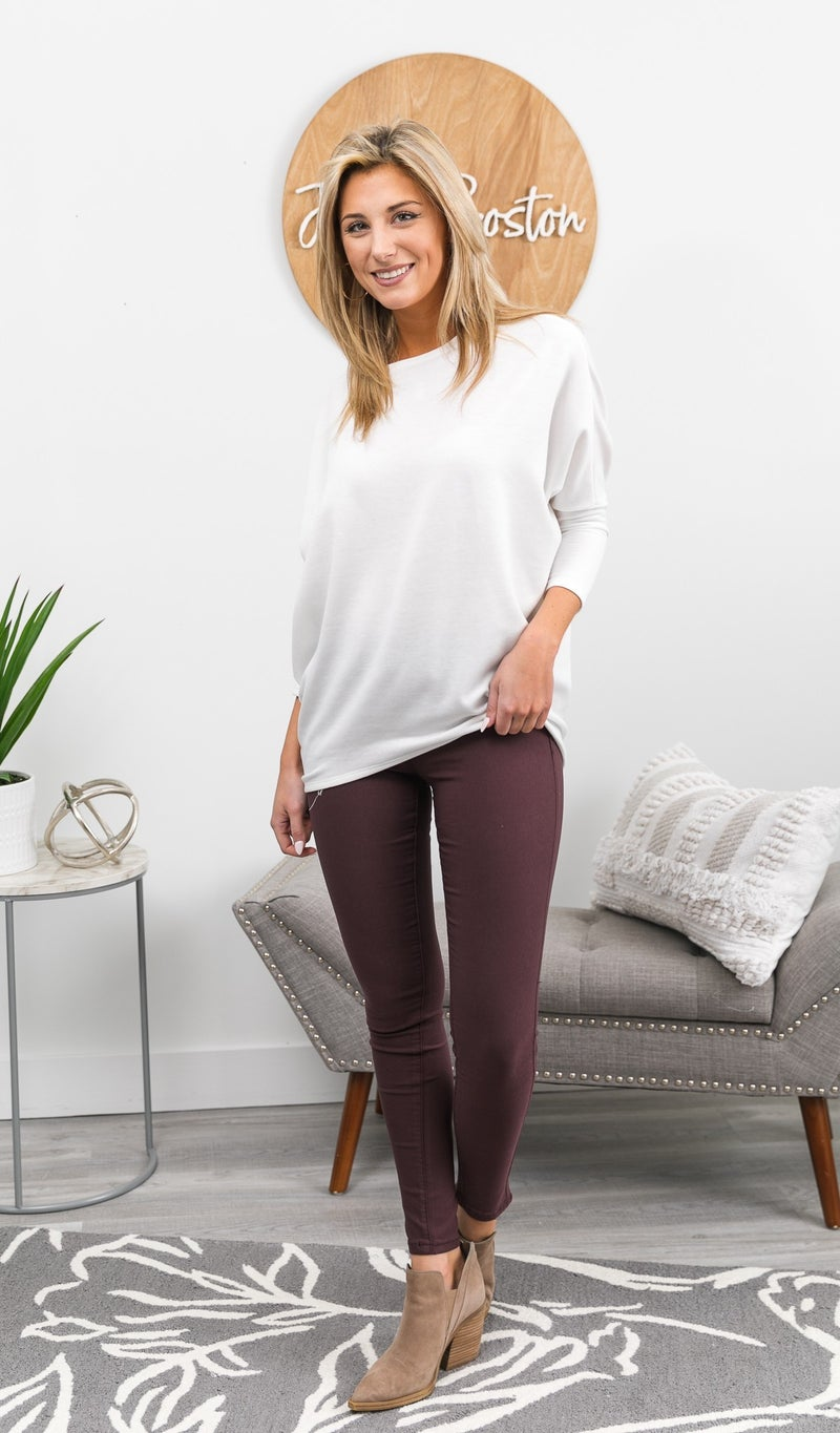 Next Best Thing Jeggings, Plum