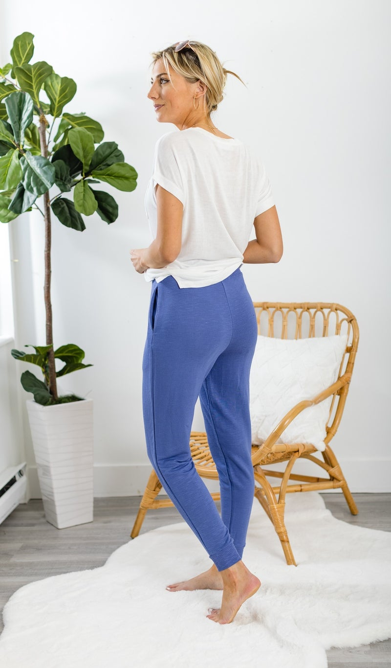 The Emelia Jogger, Charcoal or Indigo