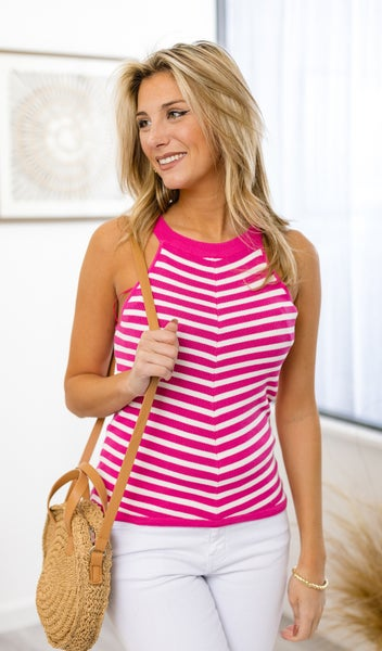 The Baylee Tank, Hot Pink