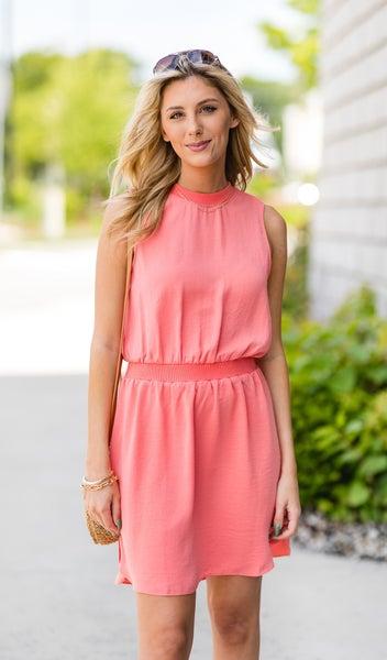 True Beauty Dress, Coral