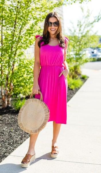 The Summer Sweetheart Dress, Hot Pink