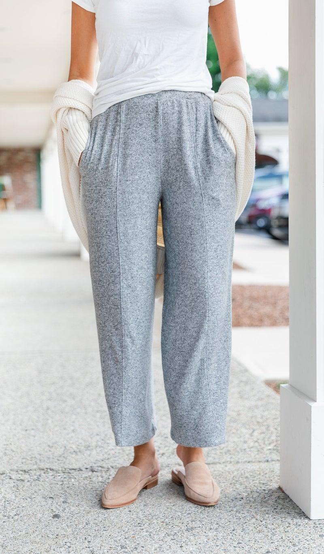 Like A Cloud Wide-Leg Pant, Grey,  Oatmeal, or Charcoal