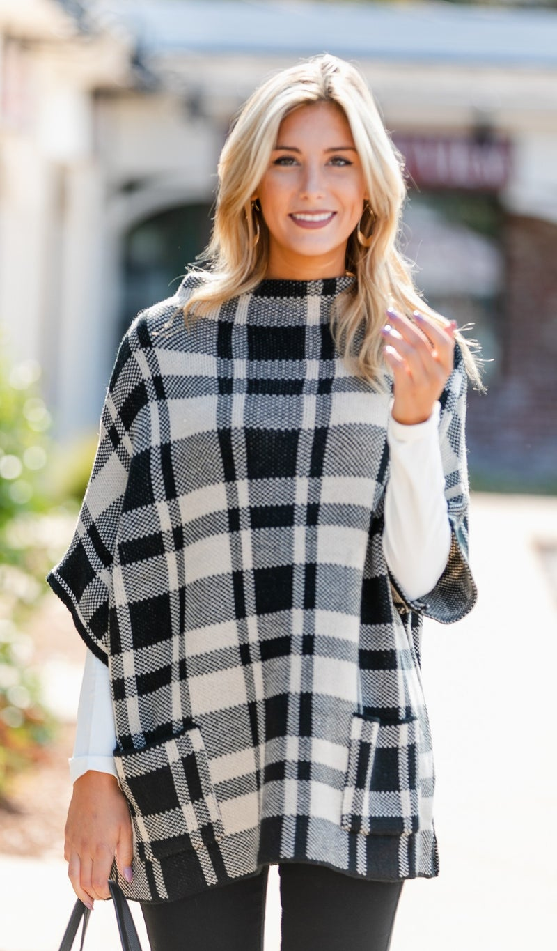 Perfectly Plaid Sweater, White