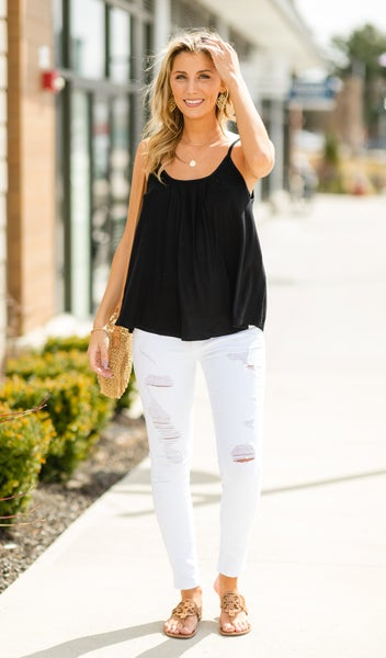 Staple In Spring Tank, Black
