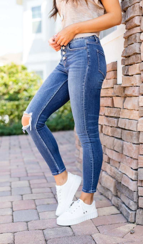 The Leyla Skinny Jeans, Dark Wash