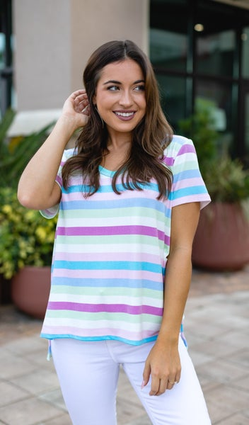 Gia Stripe Top, Multi