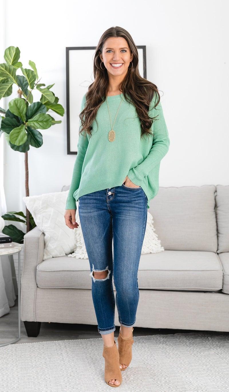Simply the Best Lightweight Sweater, Mint