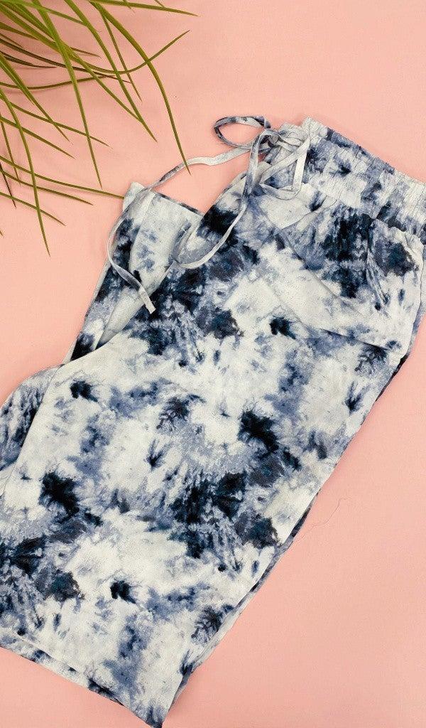 Summer Of Love Tie-Dye Pant, Navy or Denim