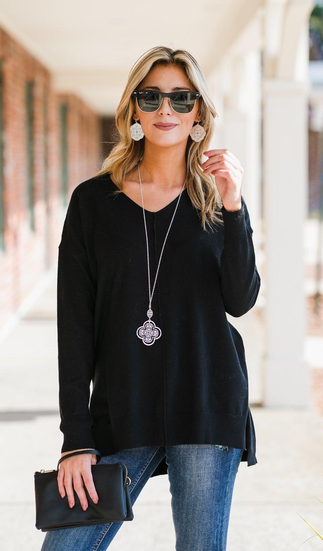 Brookside Sweater, Black