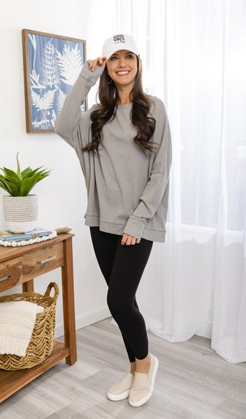 The Absolute Comfort Top  Lt Grey