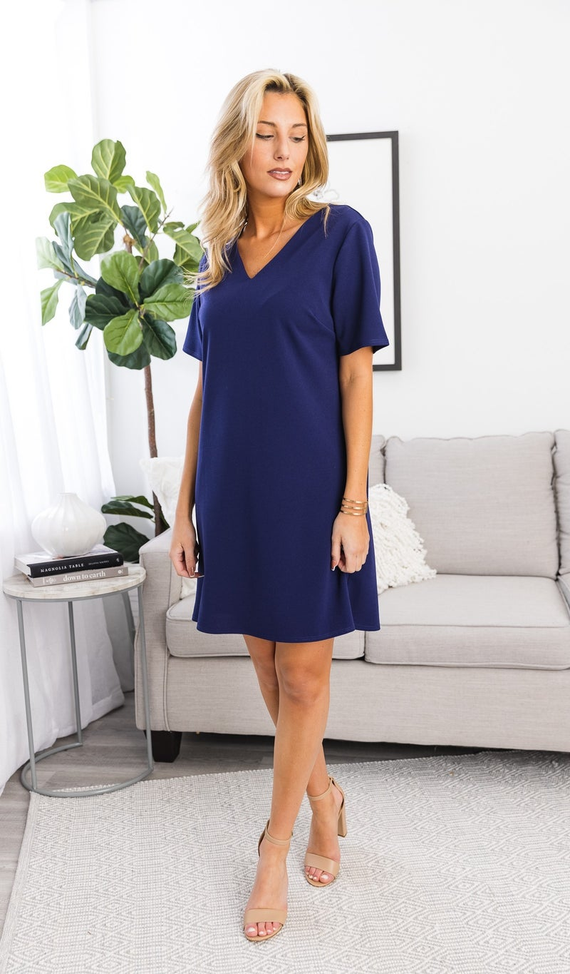 The Everly Dress, Navy