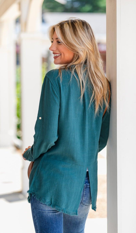 FLASH SALE!!  Easy Breezy Linen Button Down, Latte, Green, Wine or Navy