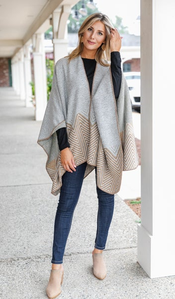 All Wrapped Up Knit, Grey