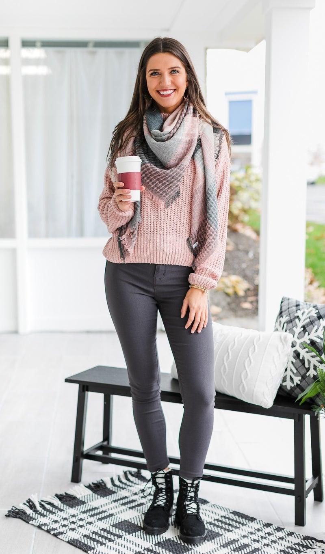 Feeling Pretty Sweater, Blush or Indigo *Final Sale*