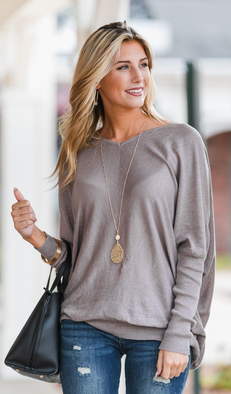 Ready To Go Sweater, Mocha